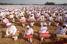 15000 khol playing at Totabor. Photo: UB Photos