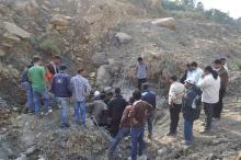 DSU and Veer Lachit Sena stopped works of Tunnel No 13A