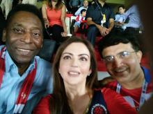 Nita Ambani's selfie with of Pele, Sourav Ganguly
