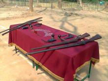 arms & ammunition recovered at Maibang