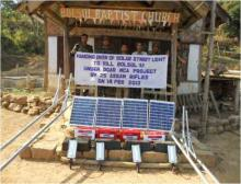 Assam Rifles installed Solar Street Lights in Dima Hasao village