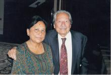 Rini Kakati with Saeed Jaffery at Brent Indian Association, Wembley, London