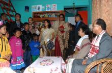 Tarun Gogoi at SOS Children's Village, Azara