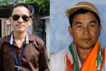 Ihuing Pame and Laltlansang Hmar - winners at 2013 Dima hasao election